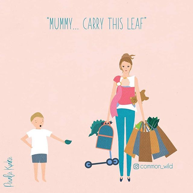 Who can relate to this? I'm pretty sure our little ones think we're super humans, which we pretty much are 😉 love this spot on art work by @common_wild Go check her out . . . . #parenting #mumma #commonwild #superwoman #artinspo #newquay #cornwall #kernowfornia