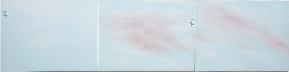 "Photo Cloud 100 (Triptych), 1969-70, Oil on canvas, 36"" x 144"""