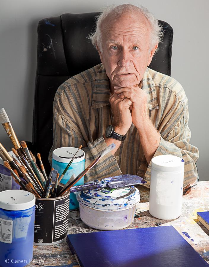 Joe at painting table (2015)