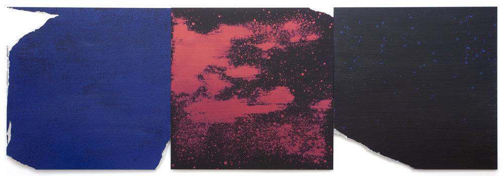 "Joe Goode, Flat Screen Nature, Red Mountain, FSNp 44, 48x144"""
