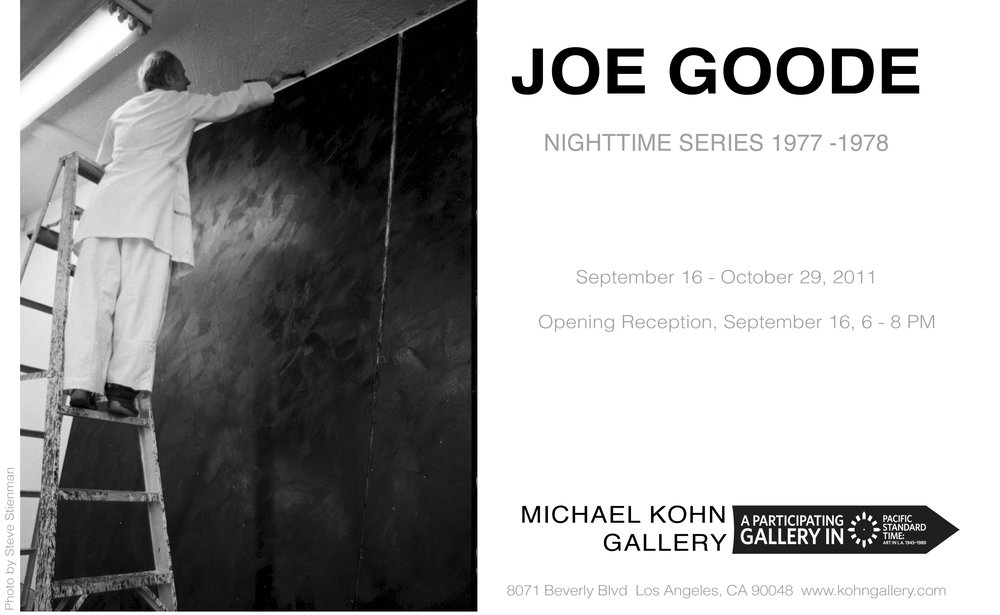 Joe Goode, Nighttime Series exhibition at Kohn Gallery (2011)     REVELANT PRESS     From Baldessari to Teske, top 20 Pacific Standard Time artists       Pacific Standard Time at the Getty Center       Pacific Standard Time CROSSCURRENTS AT THE GETTY       L.A. shows off       Art Platform Top Ten Artists
