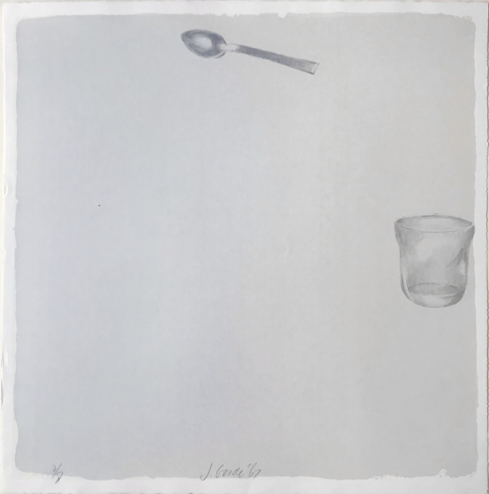 Glass and Spoon litho, 1967,  Walker Art Center
