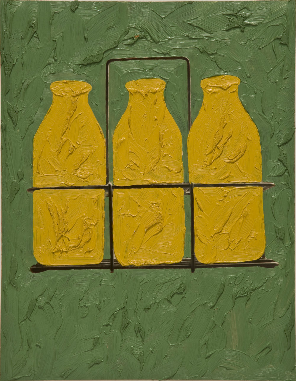 Milk Bottle (painting on photograph), 1961-62, Hirshhorn Museum and Sculpture Garden