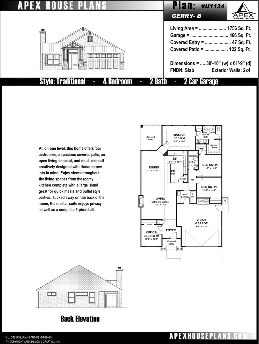 Floor Plans Courtesy Of Apex Design And Drafting.