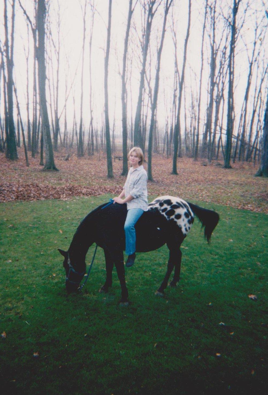 Bareback and carefree, age 13