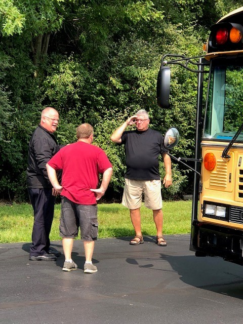 A bus driver receives individual active threat training.