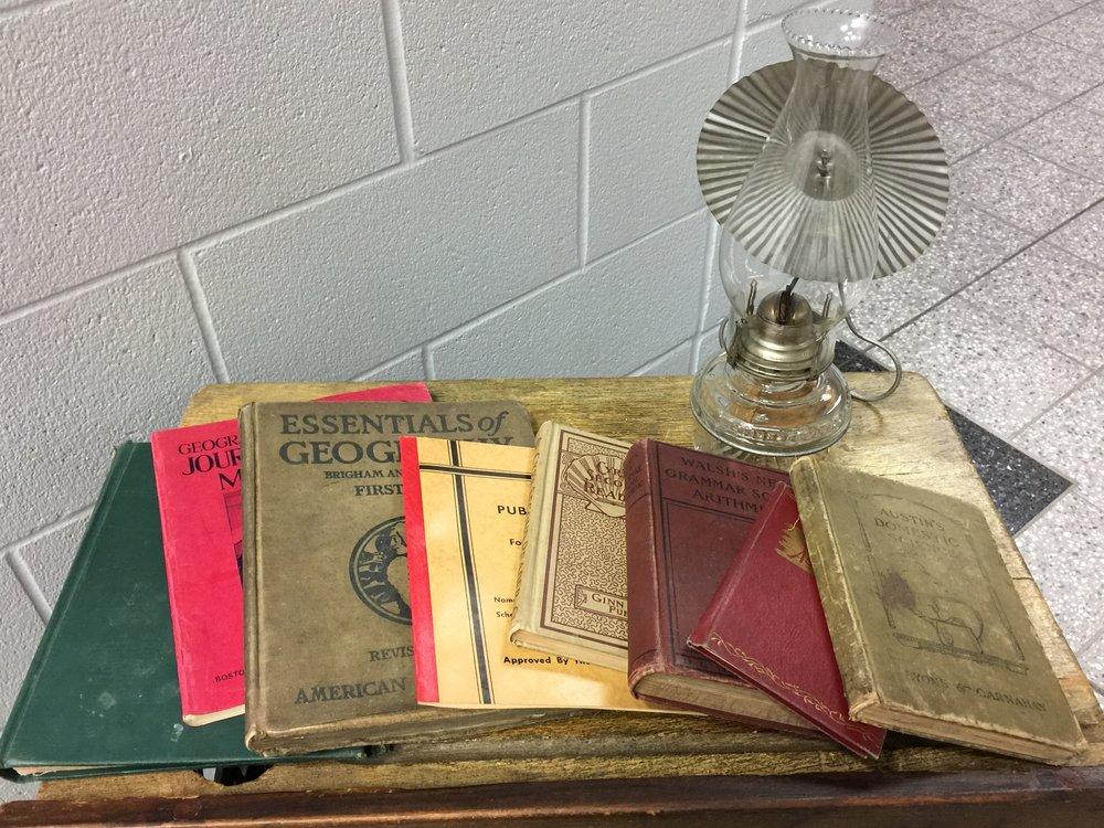 Old classroom books