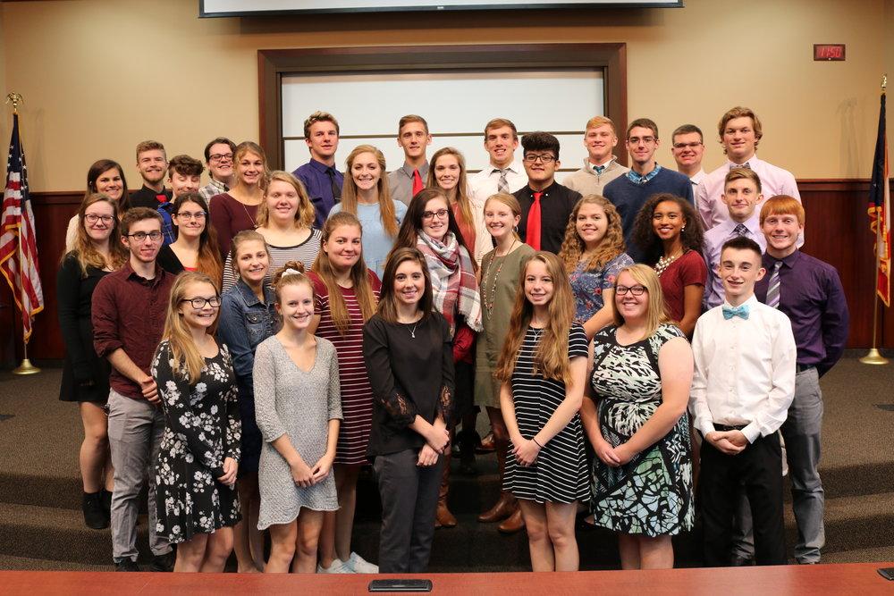 2017-2018 Junior Class Academic Award Winners