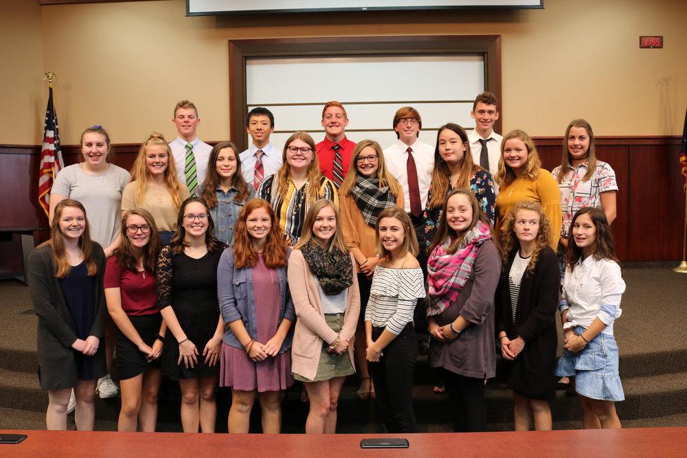 2017-2018 Freshman Class Academic Award Winners