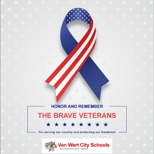 Honor and remember the brave veterans graphic