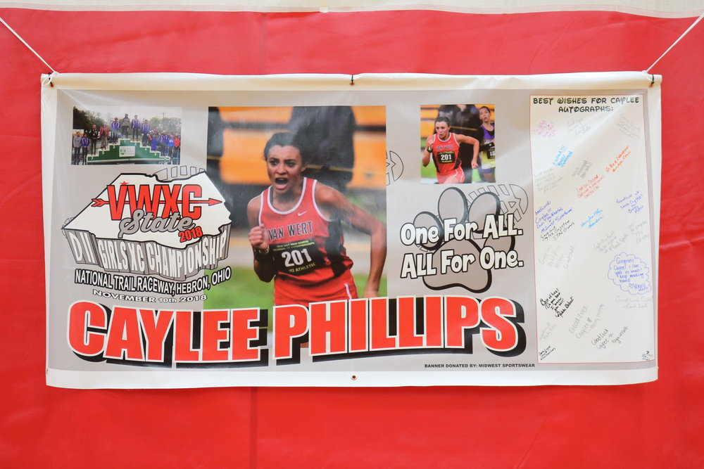 Caylee Phillips' athletic banner