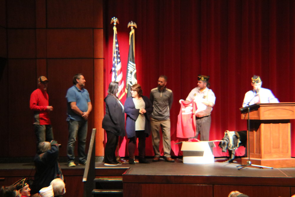 VWHS staff members are honored during the Veterans Day assembly