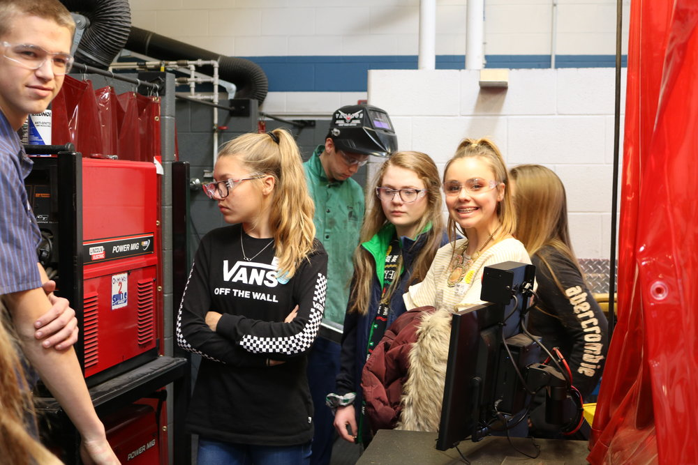 Students touring Vantage.