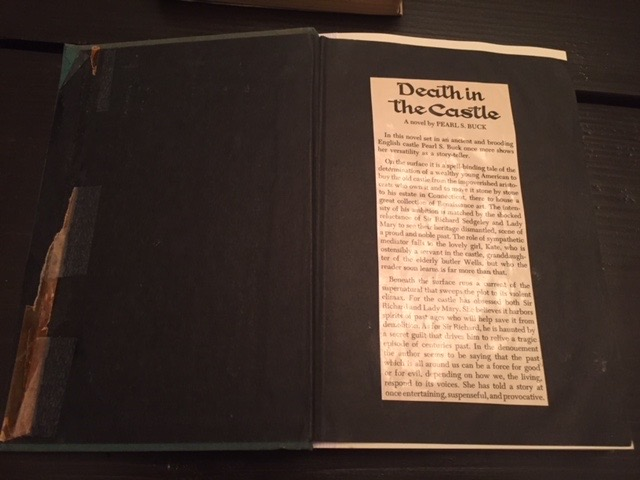 "Original library description blurb of ""Death in the Castle."""