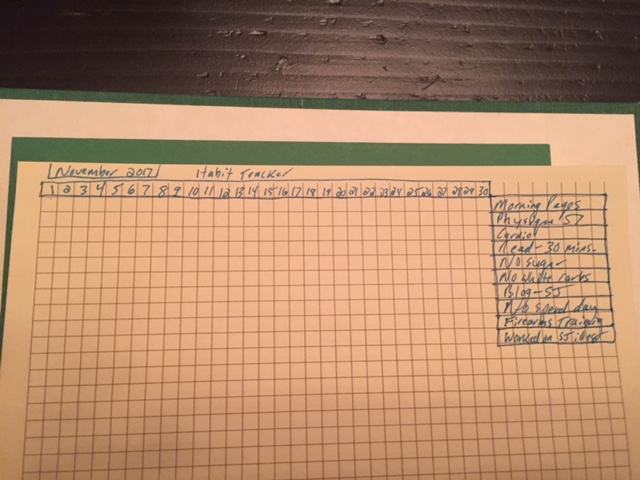 A sample beginner's Habit Tracker spread!   -- Jamie Whitmer