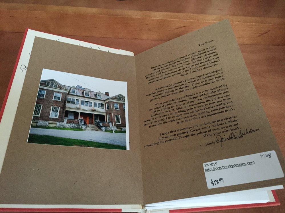 The interior photo is of St. Albans Sanatorium in Radford, Virginia.