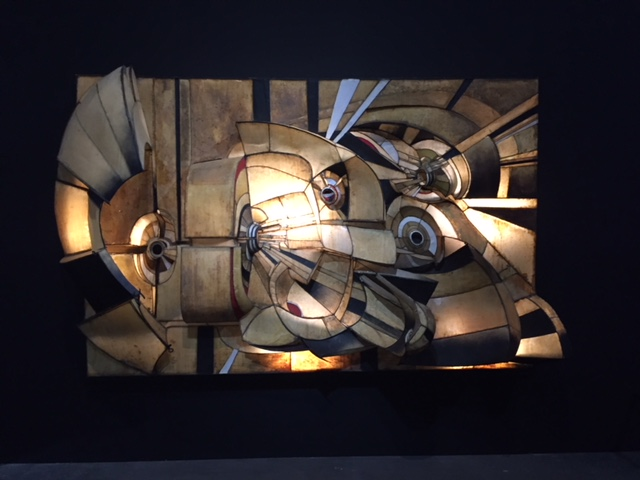 Untitled, 1966. Lee Bontecou. I first saw works by Bontecou at this very museum in May of 2013. The steel; canvas; and lighting make a very powerful statement!