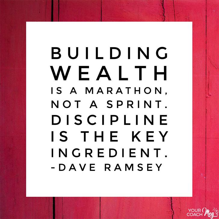 Building wealth is a marathon, not a sprint.
