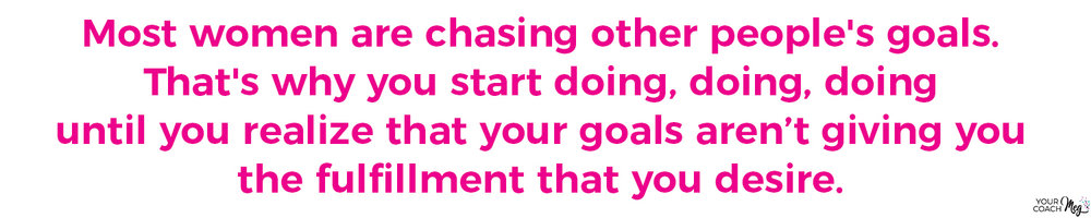 Chasing others' goals