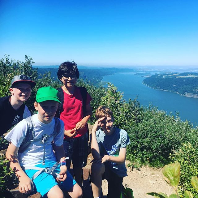 Made it to the top! #angelsrest