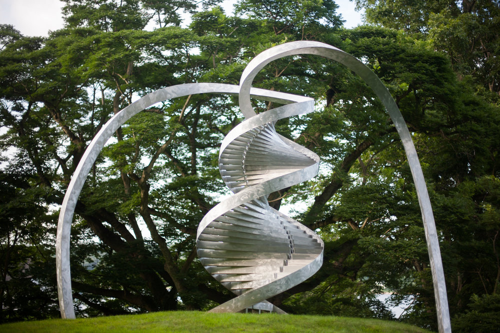 cshl-helix-sculpture