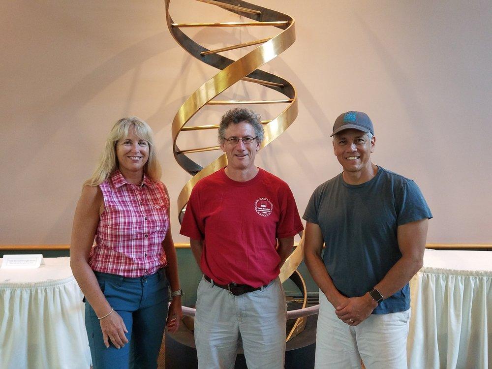 L to R: Denise Monack, Malcolm Whiteway, Raphael Valdivia