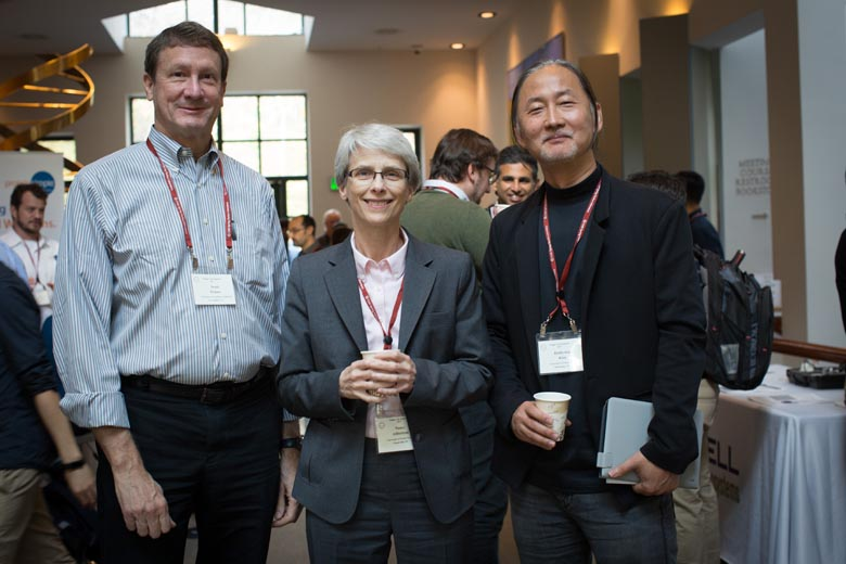 L to R: Ken Zaret, Fiona Watt, Marius Wernig; Photo by Constance Brukin