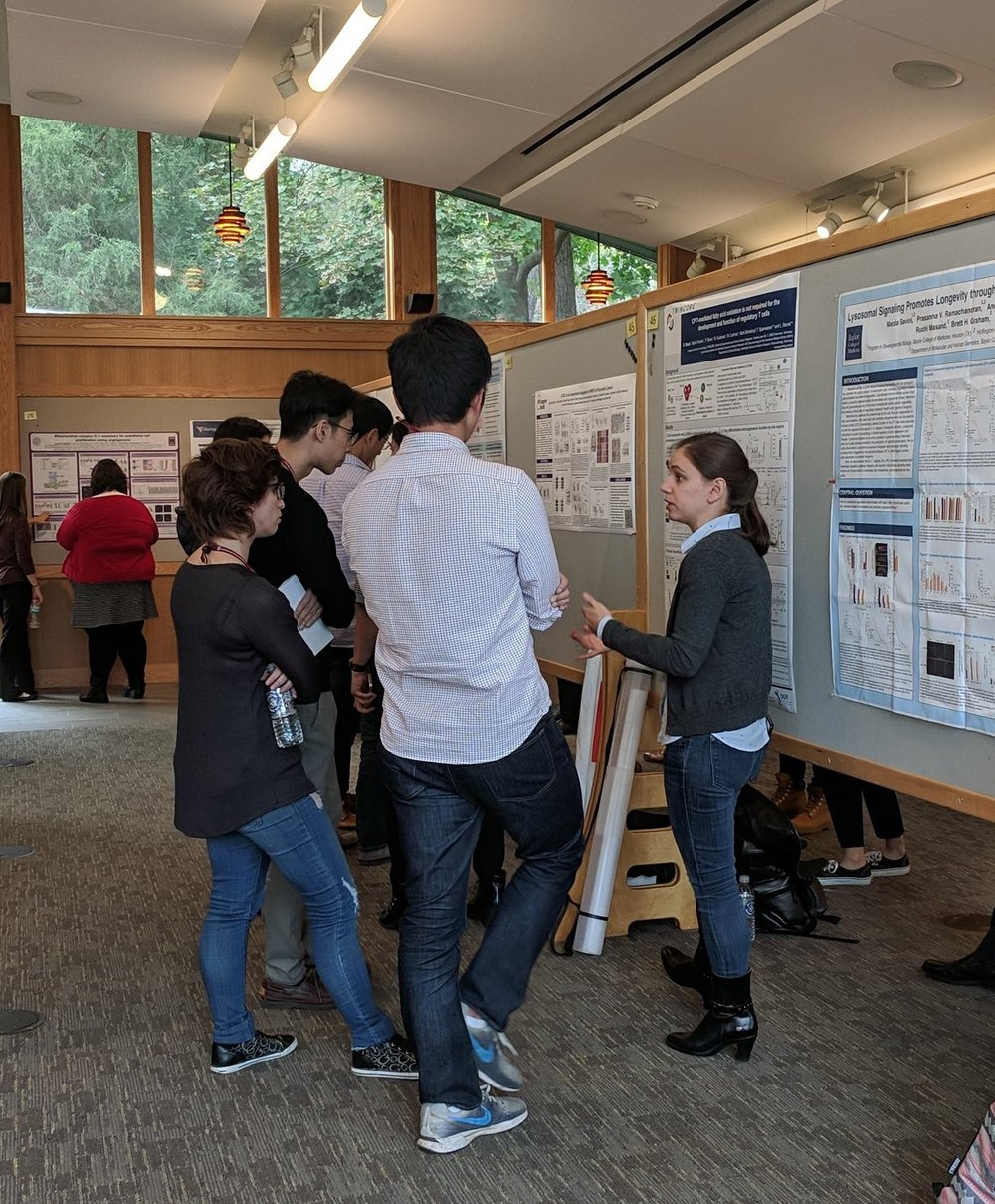 Brenda during her poster presentation at the meeting
