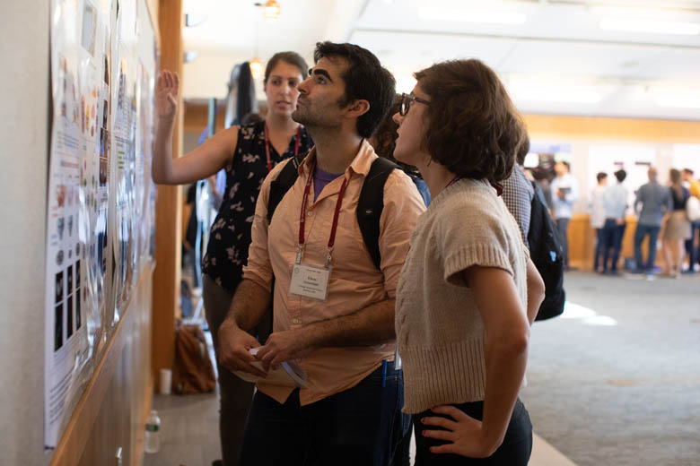 Ethan at one of the 2018 Germ Cells' poster sessions.