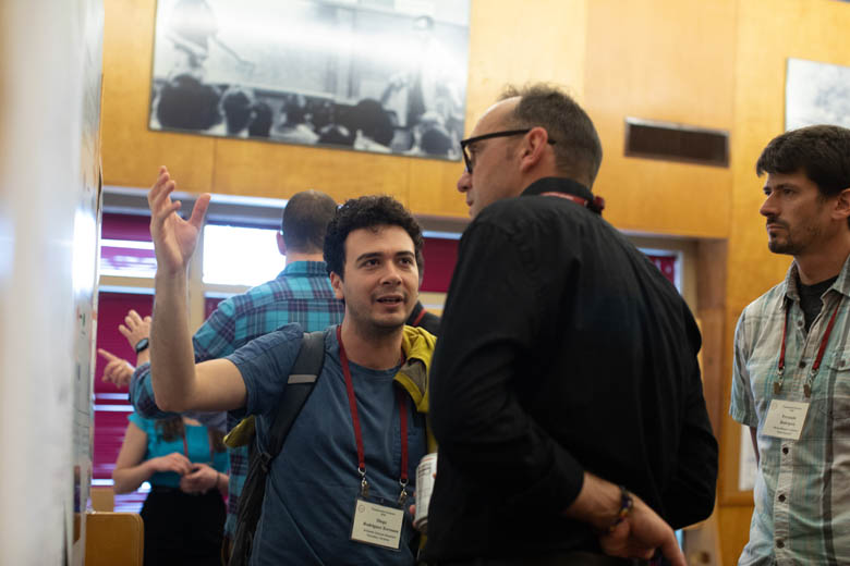 Diego at one of the 2018 Transposable Elements' poster sessions.