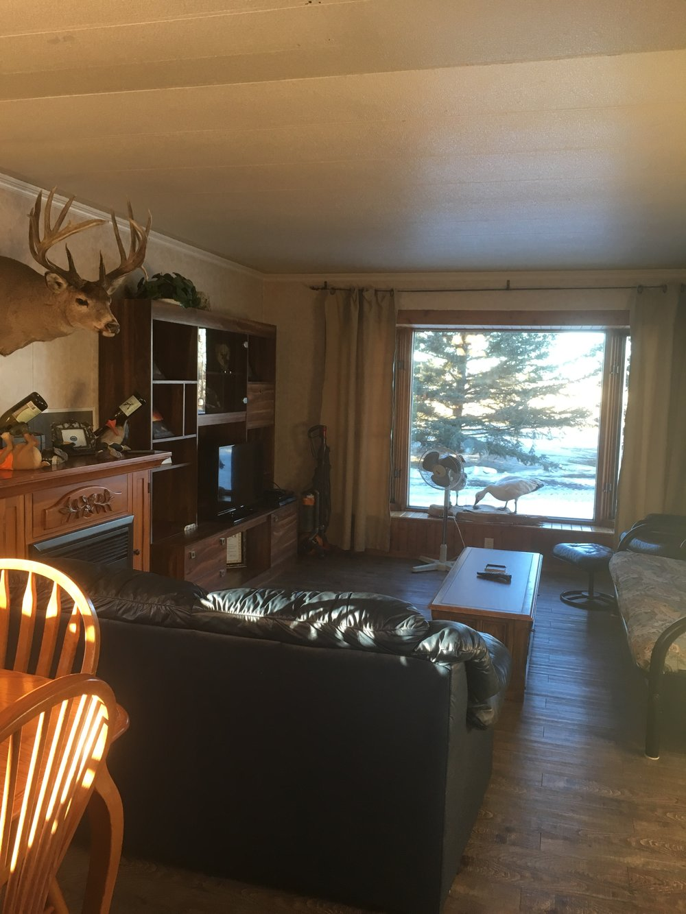 Rental house living room - Hunting Lodge Saskatchewan Canada