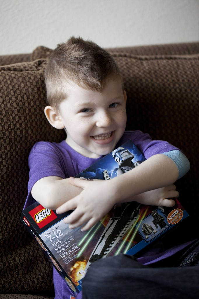 This little guy got some new legos because he was brave when he got his blood drawn
