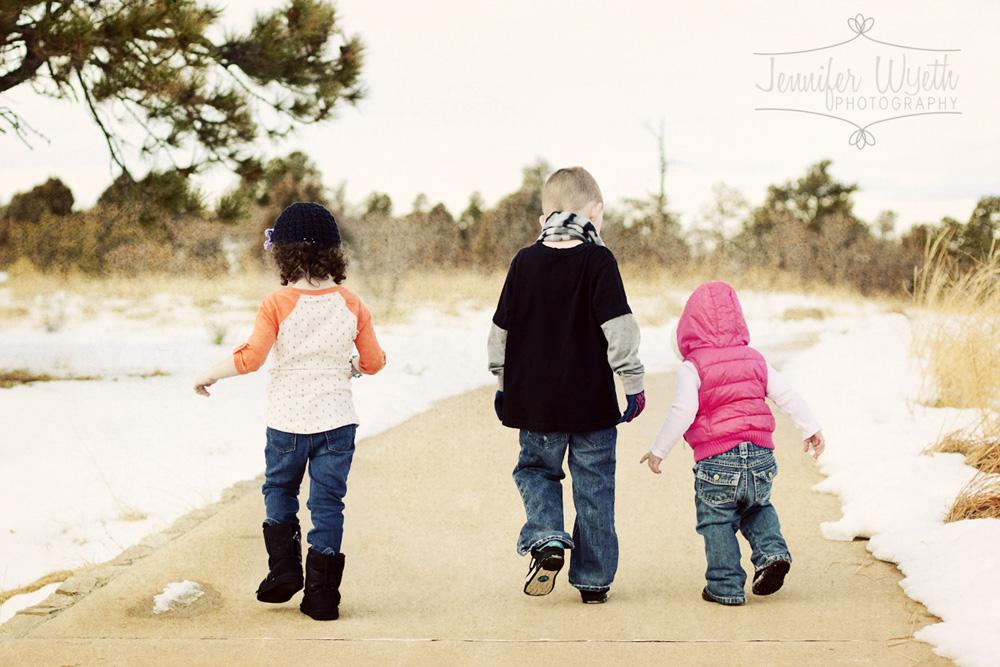Children enjoying the beautiful scenery this Denver area park provides.
