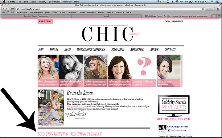 jennifer wyeth photography is featured on chic critique photography forum