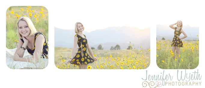 beautiful blonde twirling in a field of sunflowers