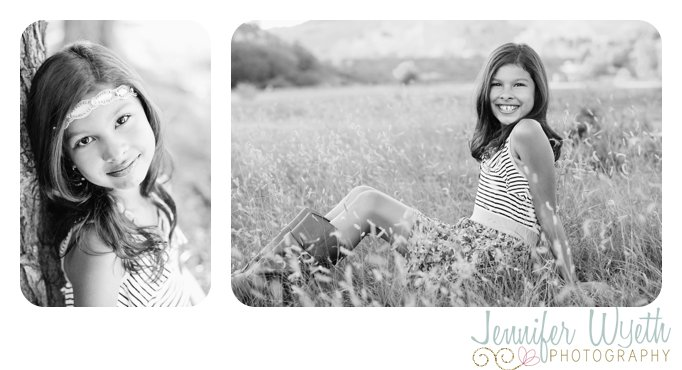 colorado girl strikes a pose in a grassy field