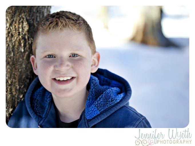 sweet smile from a cancer fighting boy in the snow