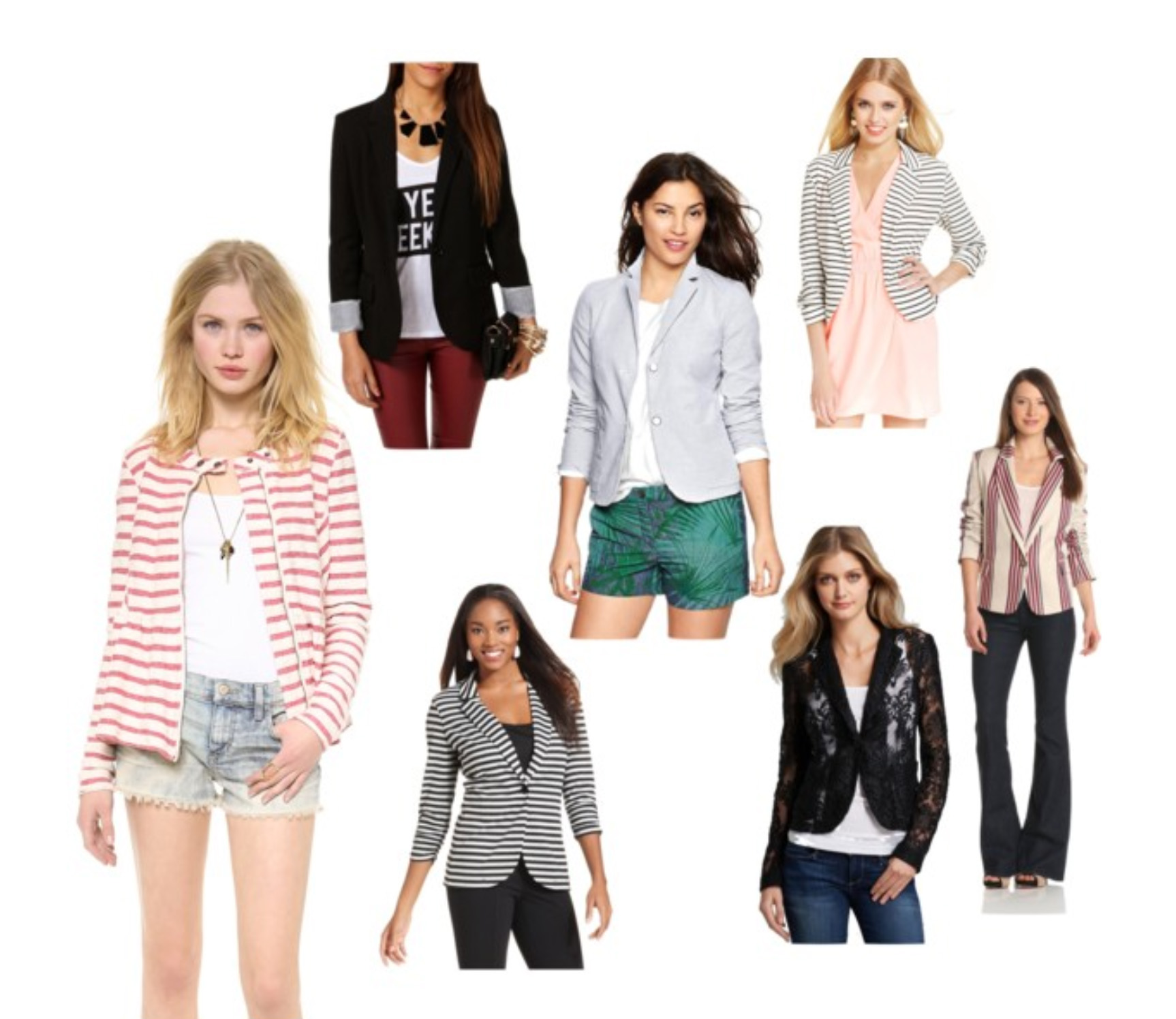 striped blazers, solid blazer, summer blazer, leather blazer