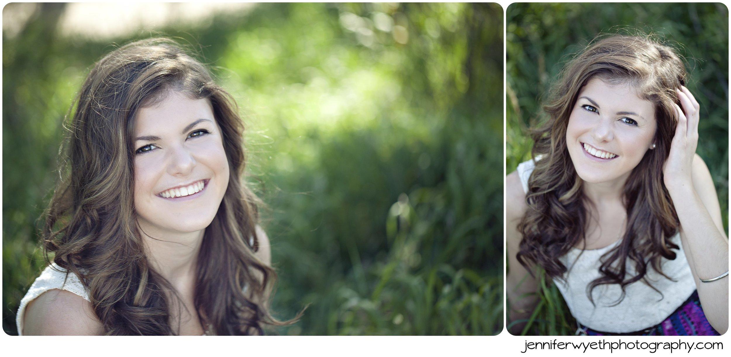 golden light falls on brunette sitting in grass in sundress