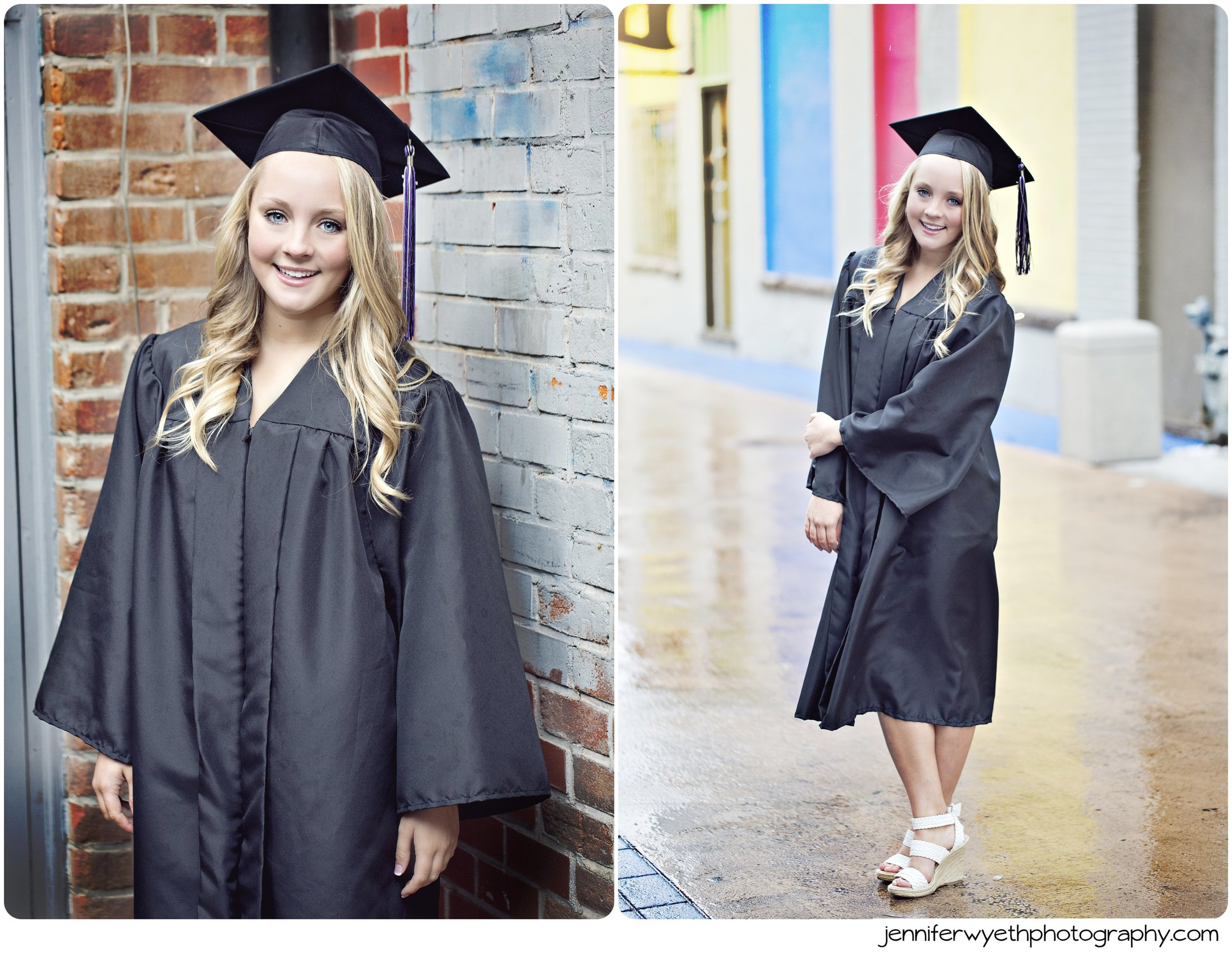 black cap and gown for high school graduation