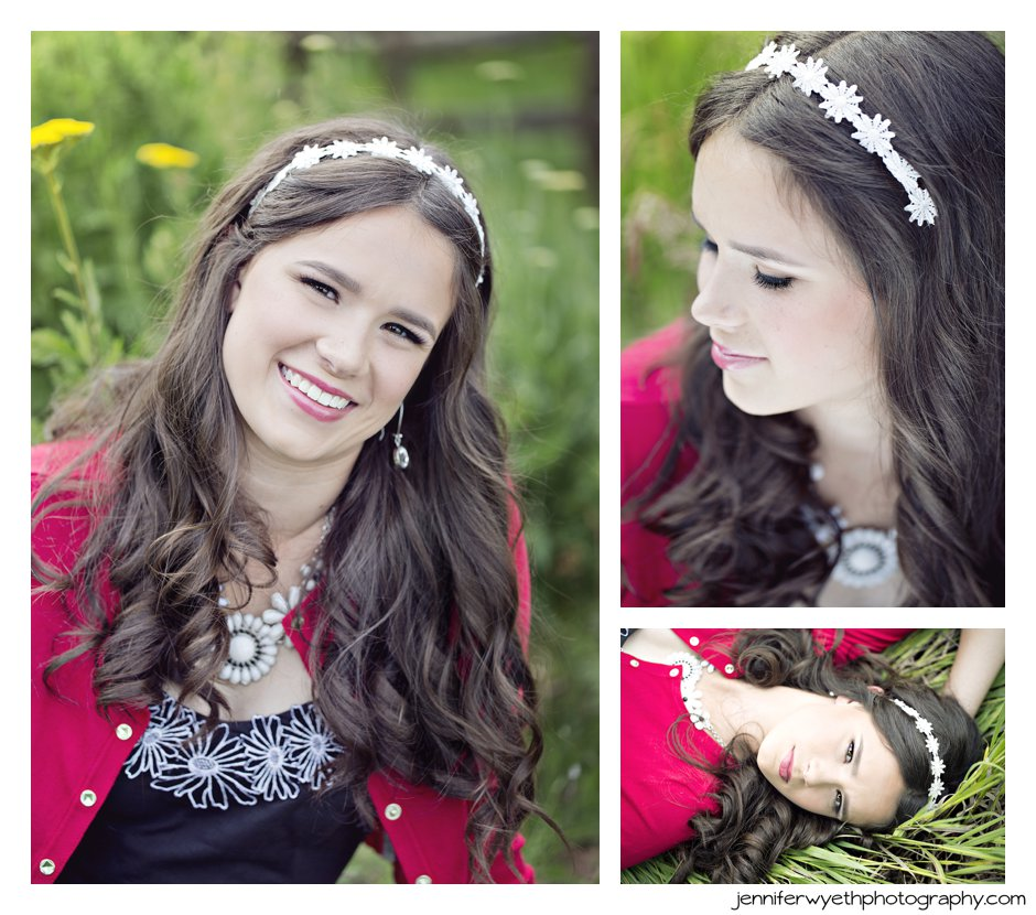 amazing head shots of stunning senior girl from Oregon