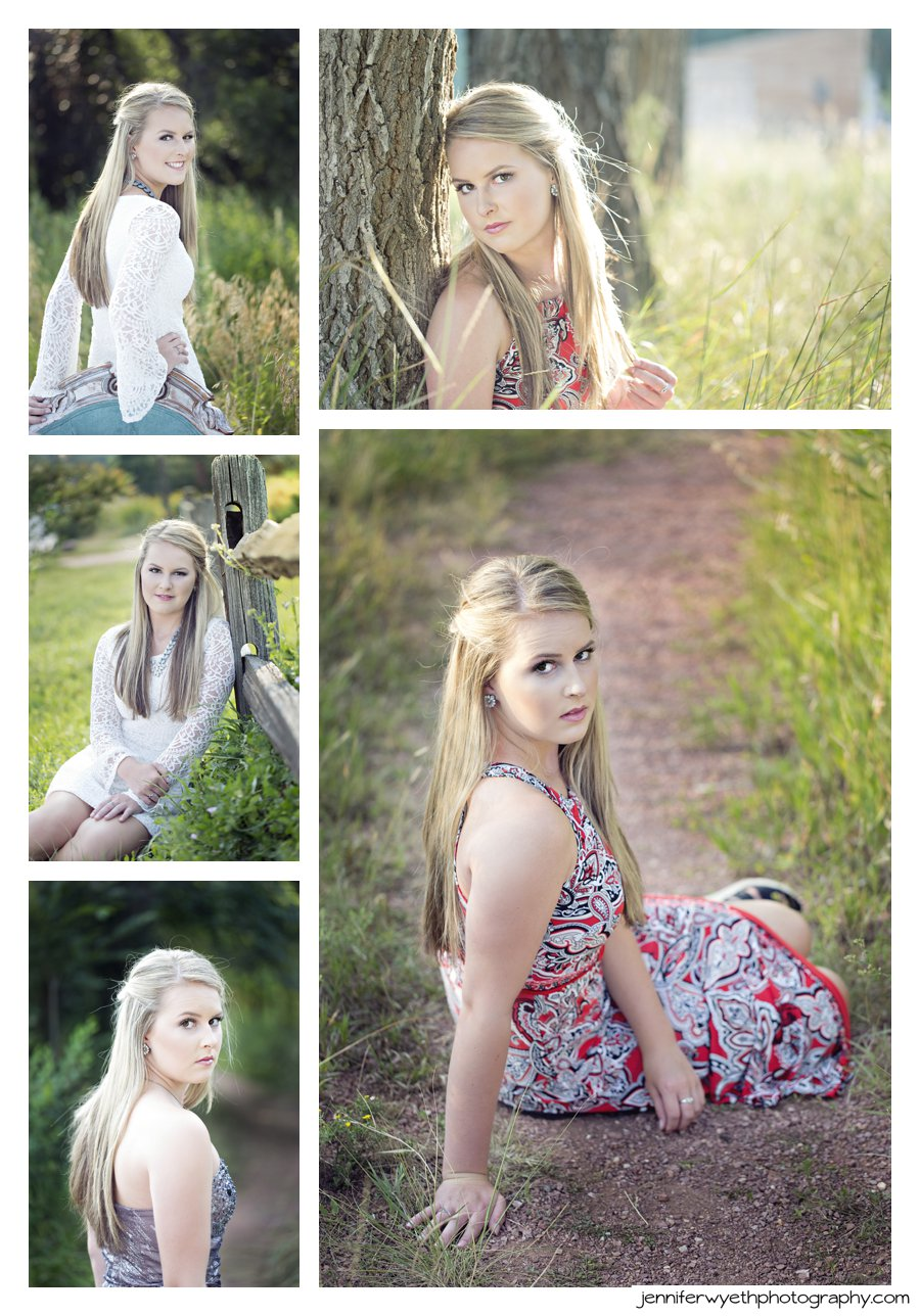 beautiful light and tall grasses show off this senior girls beauty