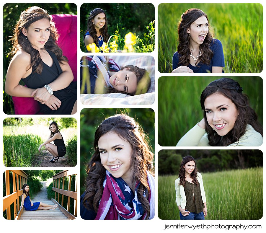 Ally did a great job of having several different styles happening at her shoot.  Proud of her!
