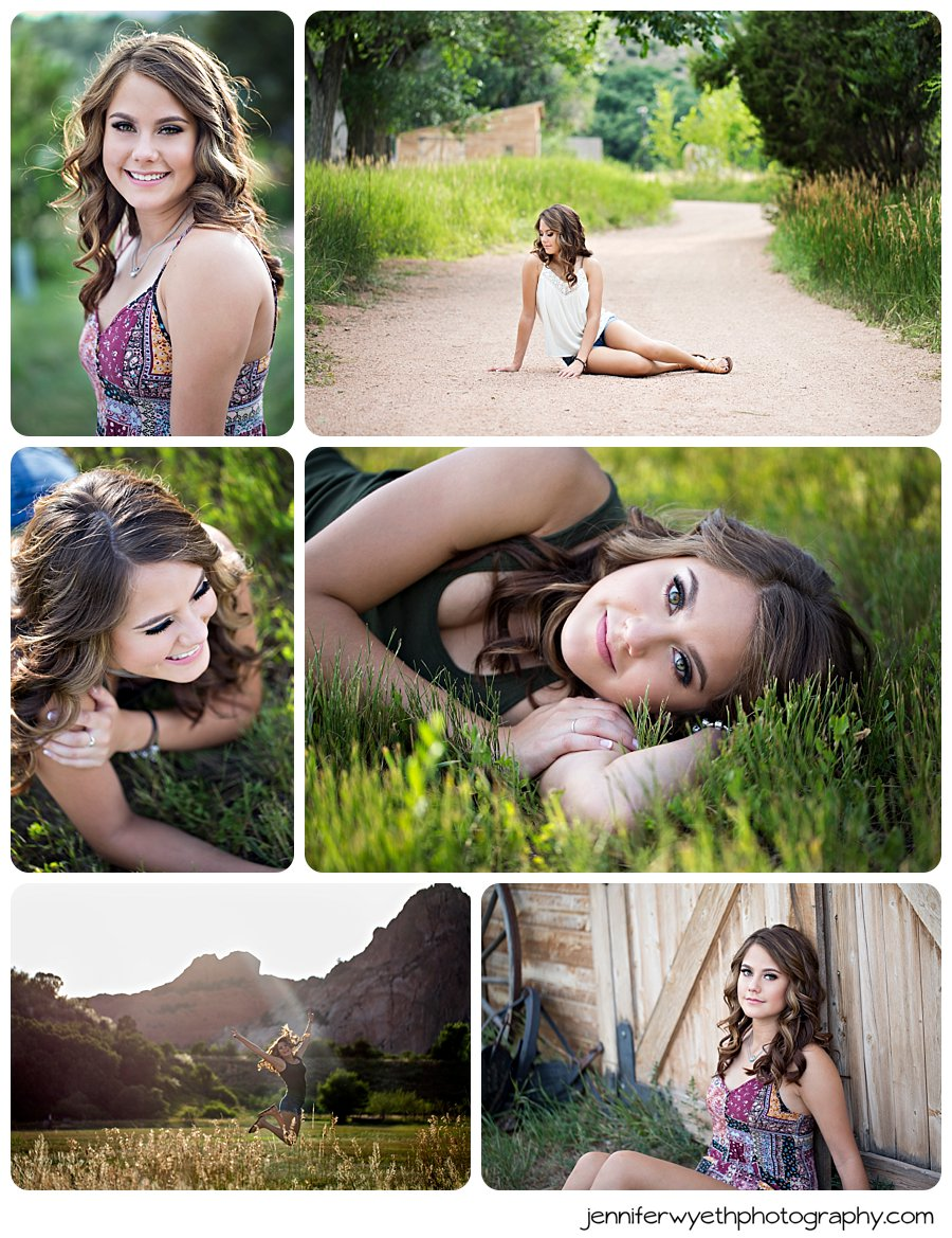 stunning senior girl poses in tall grasses for her senior pictures