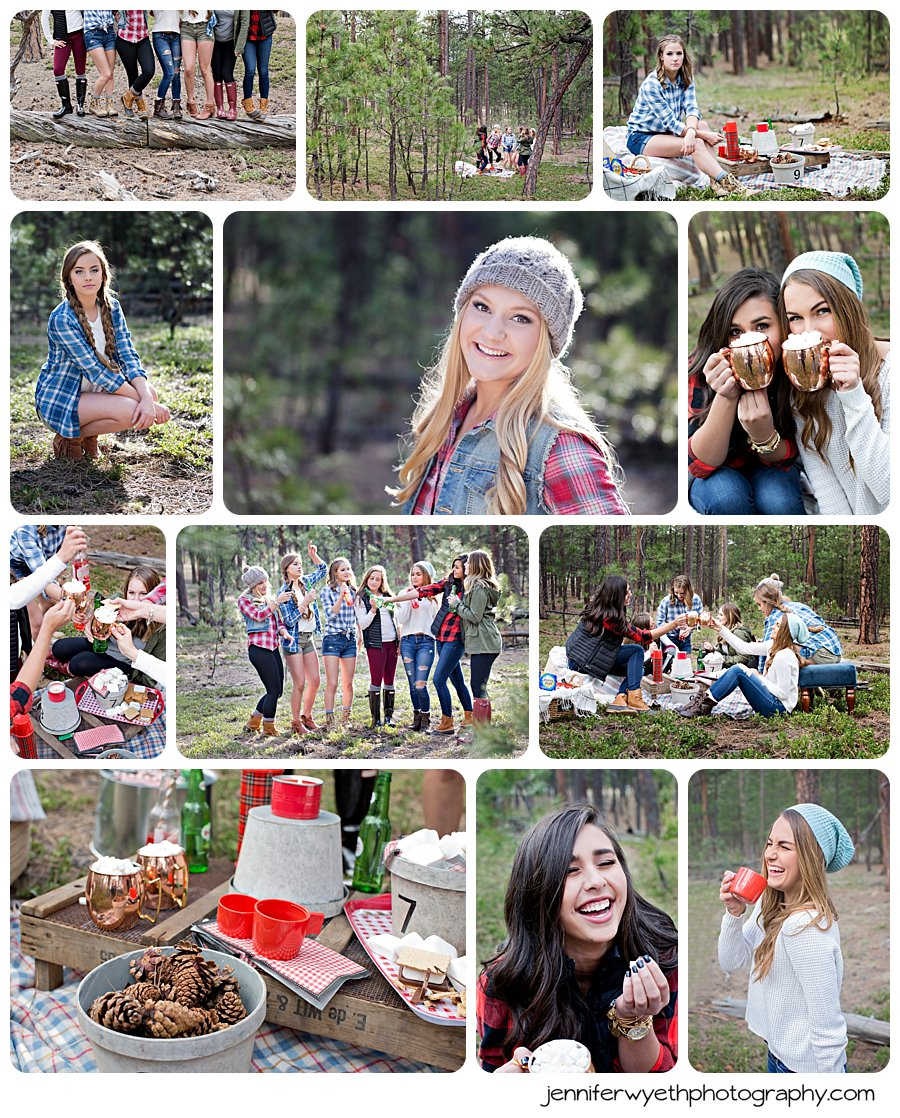 We finished off our shoot with smores and a darling camping theme, again, put together by The House of Silver Lining.