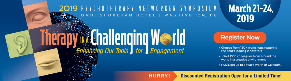 "I am presenting ""The Embodied Therapist""  - Along with headliners Gabor Mate, Malcolm Gladwell, Mary Pipher, and Bessel  van der Kolk. Join us!"