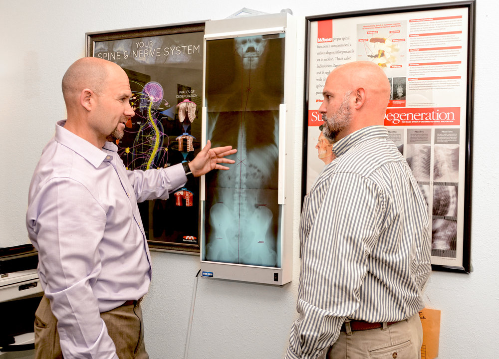 Dr. Weeks completes a comprehensive assessment of your spine. He uses x-rays to identify any issues that could cause long-term damage, but also as a benchmark to show progress as treatments continue.