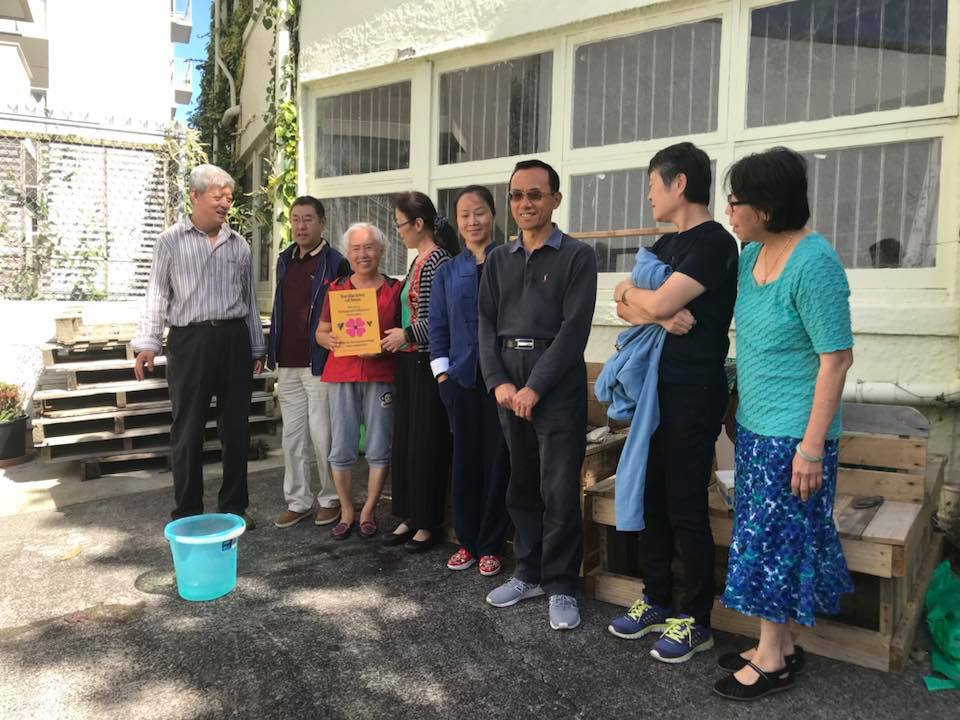 The inner city Chinese Presbyterian Church have begun their journey of turning their grounds into a Biological Pollinator Sanctuary. The gardens beds were built by Construct Project at a For the Love of Bees workshop. This project has been supported by the Waitemata Local Board.