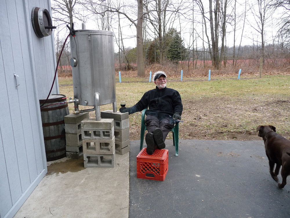 My favorite part of winemaking - cold-stabilizing the wine.