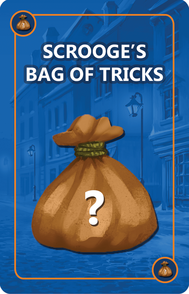Bag of Tricks Cards are designed to give Scrooge an advantage and Scrooge U over! Hilarious. Tactical.